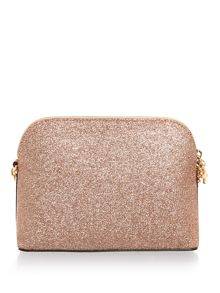 Michael Kors Alex rosegold dome crossbody bag