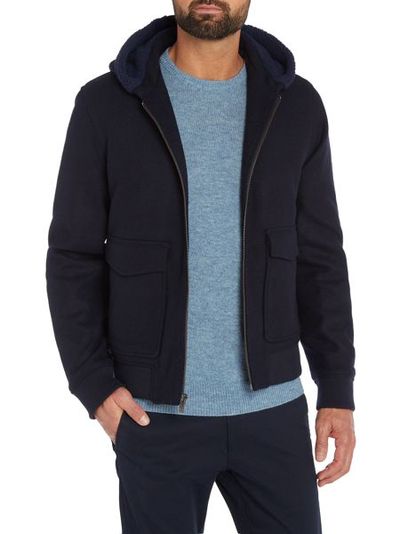 Original Penguin Sherpa-Collar Bomber Jacket
