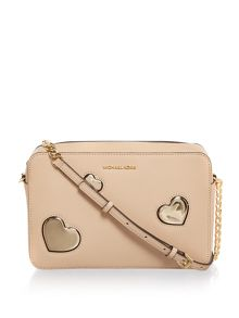 Michael Kors Peek a Boo neutral crossbody bag