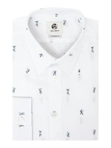 PS By Paul Smith Long Sleeved Dancing Dice Print Shirt