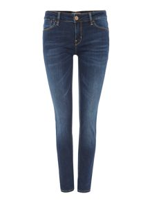 Guess Delavé skinny mid rise jean in dark dating