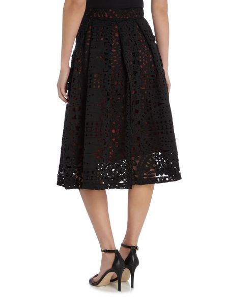Lost Ink Full Lace Midi Skirt