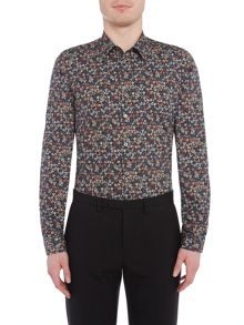 PS By Paul Smith Dark Floral Print Shirt