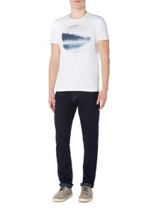 Criminal Lake Reflection Circle Print Tshirt