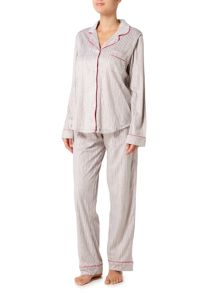 DKNY Fleece city notch pyjama set