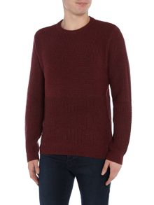 Original Penguin Wool-Blend Chunky Mix-Stitch Knitted Jumper