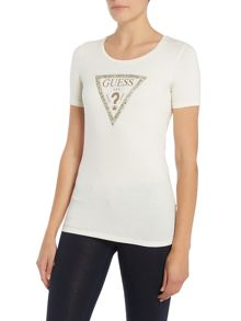 Guess Round Neck Guess Triangle Tee
