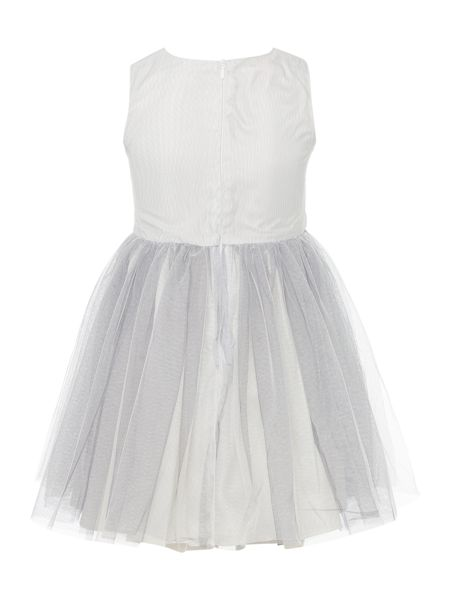 Little Misdress Girls Dress Rose Embroidered