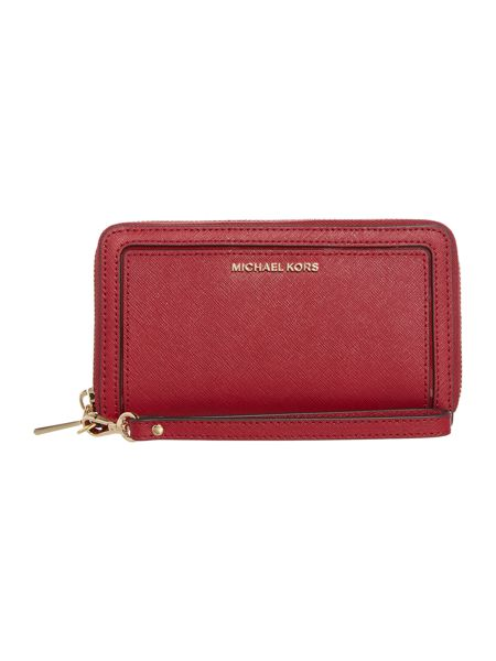 Michael Kors Frame out item red large multi function purse