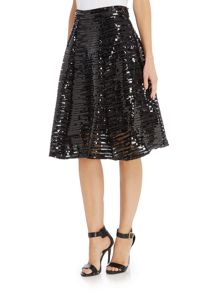 tfnc All Over Sequin Fit and Flare Skirt