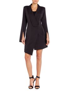 Lavish Alice Long Sleeved Tuxedo Mini Dress
