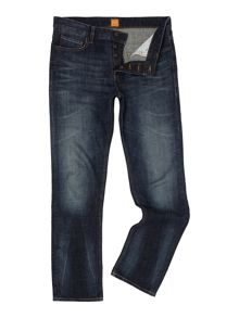 Hugo Boss Orange25 reg fit mid dark jeans