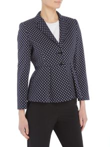 Marella CHICKY anchor print jacket with peplum