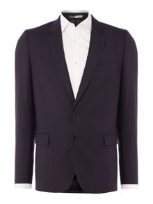 PS By Paul Smith Wool Single Breasted Notch Suit Jacket
