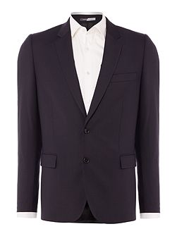 Wool Single Breasted Slim Fit Suit Jacket