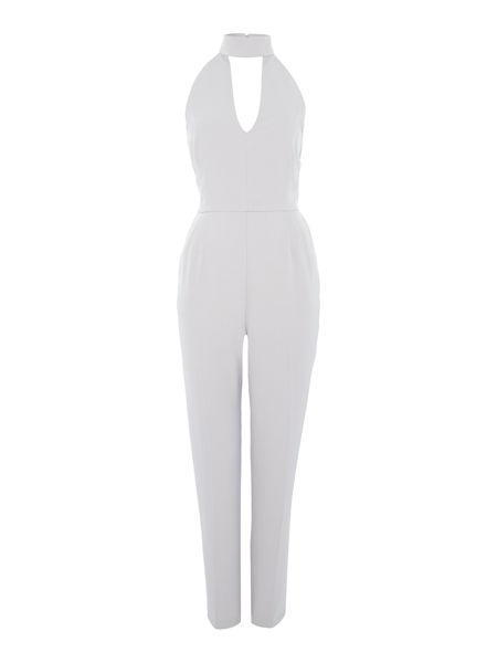 Lavish Alice Sleeveless Choker Plunge Jumpsuit