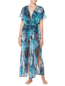 Biba Jungle jaguar maxi kaftan