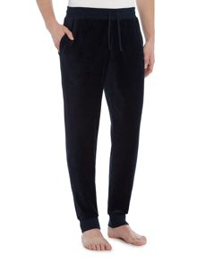 Emporio Armani Cuffed Velour Loungewear Trousers