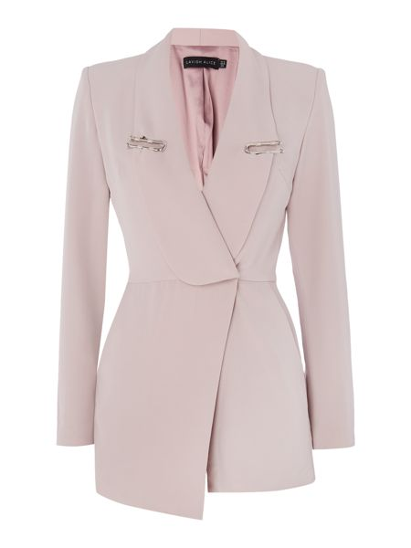 Lavish Alice Long Sleeve Lapel Playsuit