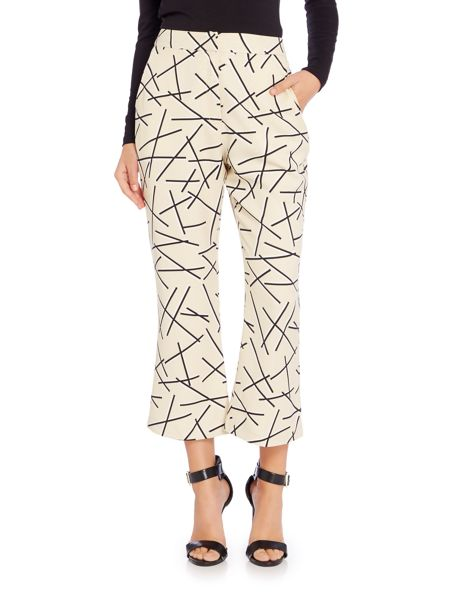 Lavish Alice Printed Cropped Trousers