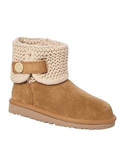 Knit Suede Shoe Boots