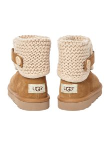 UGG Knit Suede Shoe Boots