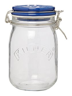 1Litre Union Jack Ceramic Lid Clip Top Jar,