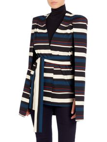 Lavish Alice Long Sleeved Blazer Tie Cape