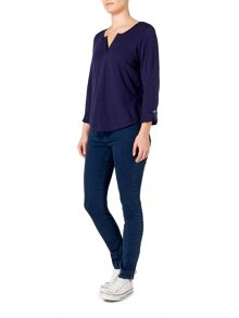 Dickins & Jones Heather Henley Ladder Front Top