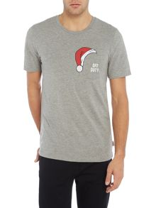 Jack & Jones Christmas-Print Crew-Neck T-shirt