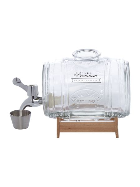 Kilner 1.0 Litre Barrel Dispenser with wooden stand