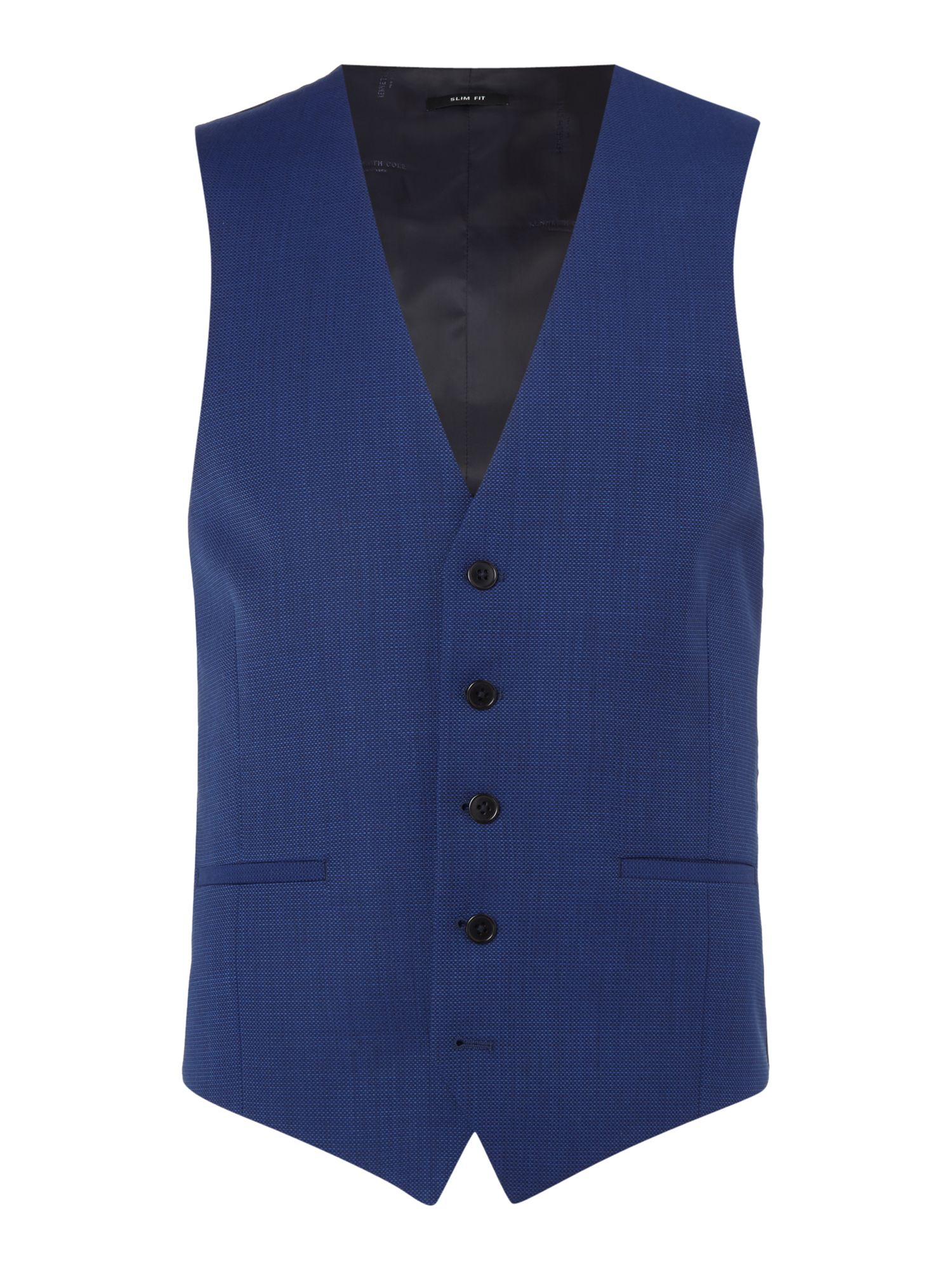 Men's Kenneth Cole Hylan Slim Fit Pindot Suit Waistcoat, Navy
