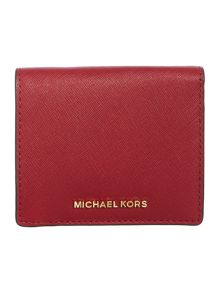 Michael Kors Red fold over purse and keyring gift set