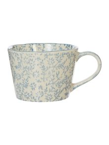 Junipa Block Print Blue Mug