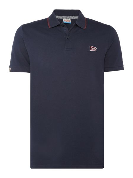 Jack & Jones Flag-Logo Short-Sleeve Polo Shirt