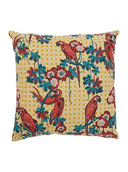 Koro parrot print cushion