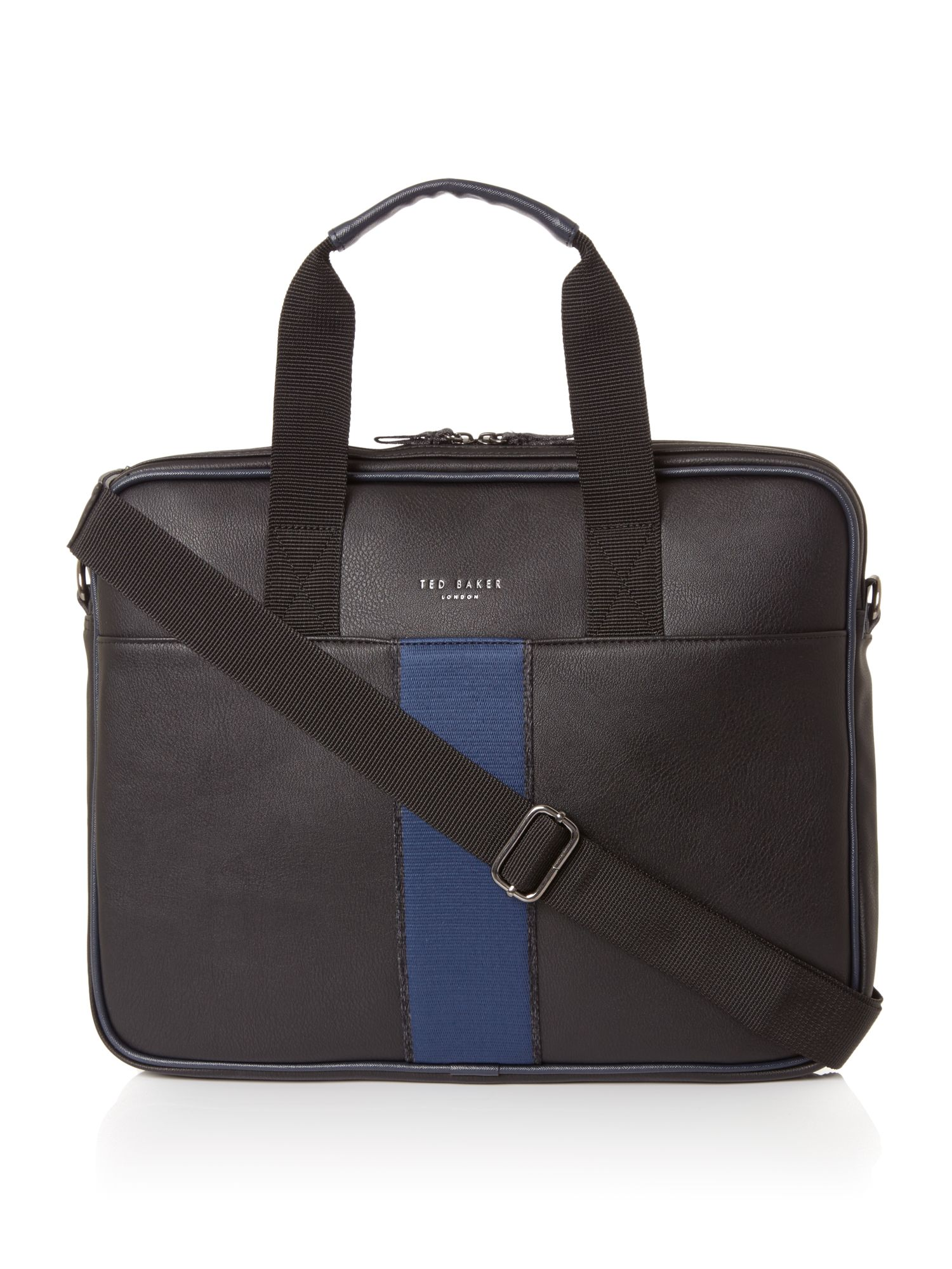 Ted Baker Webbing Document Bag Black