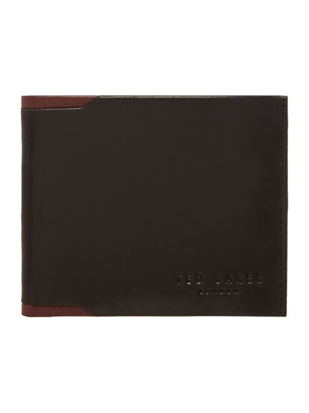 Ted Baker COntrast Insert Leather Bilfold Wallet