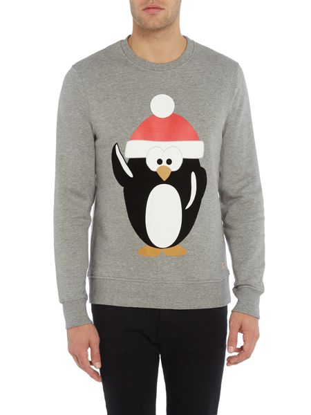 Jack & Jones Merry-Christmas Crew-neck Cotton Jumper