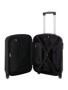 Linea Boston black 4 wheel hard cabin suitcase