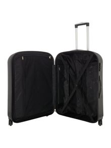 Linea Boston black 4 wheel hard medium suitcase