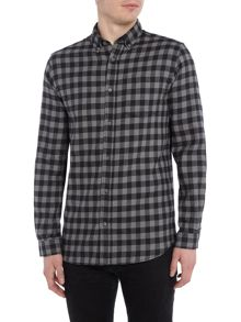 Jack & Jones Check Long-Sleeve Cotton Shirt