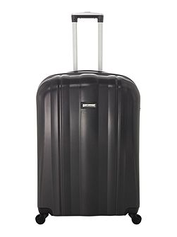 Boston black 4 wheel hard large suitcase