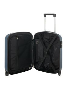 Linea Boston teal 4 wheel hard cabin suitcase
