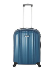 Linea Boston teal 4 wheel hard medium suitcase