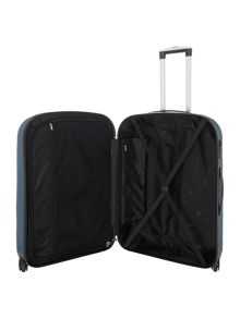 Linea Boston teal 4 wheel hard large suitcase