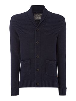 Button-Through Cotton-Blend Knitted Cardigan