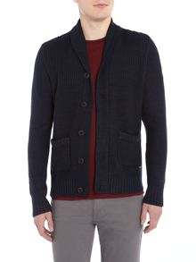 Jack & Jones Button-Through Cotton-Blend Knitted Cardigan