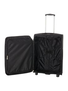 Linea Hamilton black 2 wheel soft medium suitcase