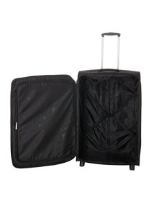 Linea Hamilton black 2 wheel soft large suitcase